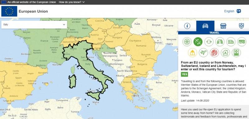 ЄС розробив інтерактивну карту для тих, хто хоче в'їхати в Європу. Слідкуйте куди пускають.